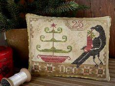 Primitive Cross Stitch Pattern  Noël des gueux par FiddlestixDesign, $10.00