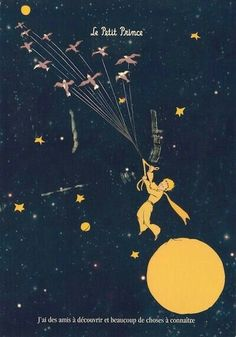 """le petit prince """"i have friends to discover and things to learn"""""""