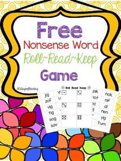 Need a no-nonsense way to practice nonsense words?This is a game to practice reading nonsense words. Can be played with up to four players. Print, cut and play. Place one word card face down on each box with a die. Put the rest of the cards in a pile beside the game board.