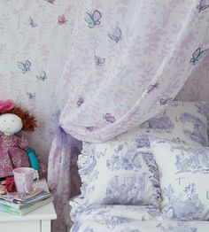 How To Style, Girls Rooms | Butterfly Meadow Fabric by Osborne & Little | Jane Clayton