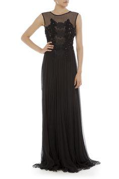 Vestido largo negro.BDBA Fall Winter 2012