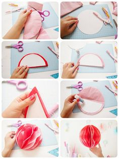 やわらかい時間: 手作りハニカムボールの作り方