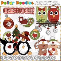 Christmas Friends 1 Clip Art Download
