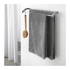 HÄREN Bath towel, medium gray