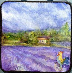 Lavender Lid Fields -Hahnemühle Youtangle.Art Tile Tin @Hahnemühle_USA