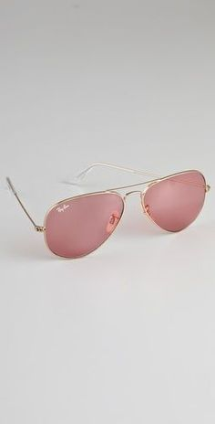 Ray-Ban PINK Aviator Sunglasses on my wish list