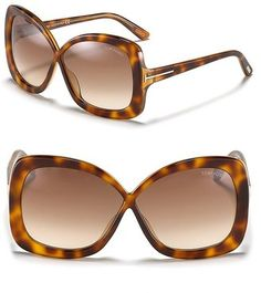 Tom Ford Calgary Squared Oversized Sunglasses