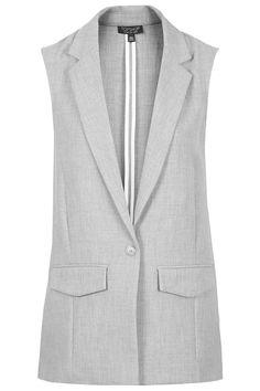 Sleeveless Longline Jacket