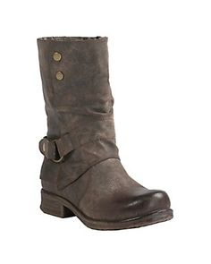 Corky's Women's Crow Distressed Brown w/ Turn Down Flap Round Toe Boots