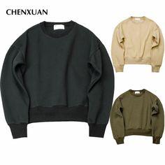 CHENXUAN  2017 new KANYE WEST FOG SEASON Sweatshirts simple solid men's Hoodies oversize drooping shoulders men's tops