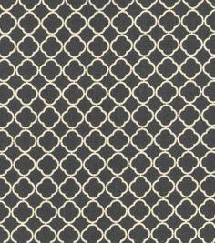 Quilter's Showcase™ Cotton Fabric-Quatrefoil Charcoal & Cream