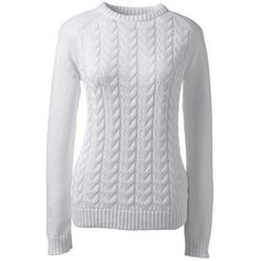 dd09b55d8abd6d Lands  End Women s Petite Drifter Cable Sweater ( 49) ❤ liked on Polyvore  featuring