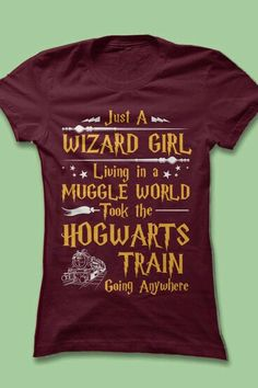 Just a wizard girl living in a muggle world took the hogwarts train going anywherr