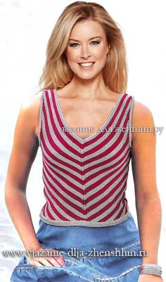 Женский топ связанный спицами для лета вязание для женщин