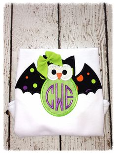 Girls halloween shirt by TheLittleStitches on Etsy, $22.00