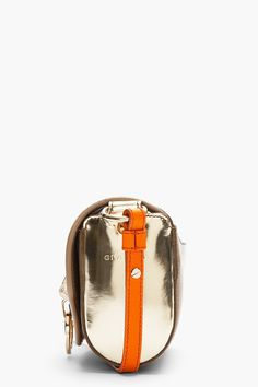 GIVENCHY Taupe Leather Gold-Trimmed Obsedia Shoulder Bag