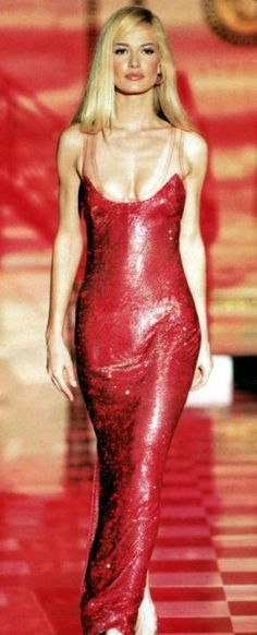 Karen walking at Versace