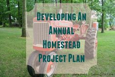 Looking for a way to work toward your 2015 homestead goals in a more focused and intentional way? Create an Annual Homestead Project Plan of your own!