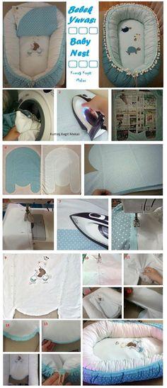 Kumaş Kağıt Makas: Baby Nest , bebek yuvasi