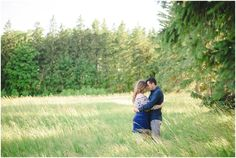 Love in a field engagement shoot photo by Arynn Photography