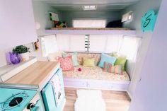 Pretty pastel camper