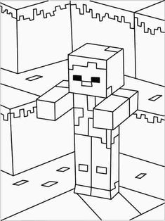 minecraft zombie coloring pages – Coloring Kids Minecraft Coloring Pages, Lego Coloring Pages, Coloring Pages For Boys, Coloring Pages To Print, Free Coloring, Coloring Sheets, Coloring Books, Kids Coloring, Minecraft Zombie