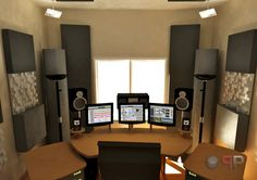 Acoustic Design - Mastering Studio - Jocavi Acoustic Panels