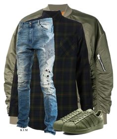 """""""Untitled #3334"""" by kimberlythestylist ❤ liked on Polyvore featuring men's fashion and menswear"""