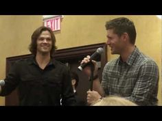 Jared and Jensen talking about how they want to do a Supernatural movie so they can swear lol