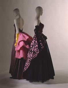 Evening dress, Designer: Elsa Schiaparelli (Italian, 1890–1973) Date: 1951 Culture: French Medium: silk