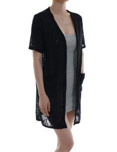 Feminine Stylish Shawl Collar Chiffon See-through Comfortable Cardigans at Amazon Women's Clothing store: