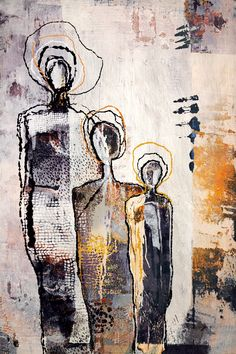 Tuck by Kelley Ogburn, Mixed Media on Canvas Vertical Abstract Nude Painting Oil Painting Abstract, Figure Painting, Mixed Media Painting, Oil Paintings, Guache, People Art, Acrylic Art, Oeuvre D'art, Figurative Art