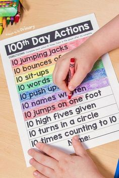 100 Days of School Ideas: 30 Learning Activities and Games 100 Days of School Ideas: 30 Learning Activities and Games <br> Plan a fun classroom celebration with the 100 days of school ideas, learning activities, and games your students will enjoy! 100th Day Of School Crafts, 100 Day Of School Project, School Fun, First Day Of School, School Projects, School Ideas, Middle School, High School, 100 Days Of School Project Kindergartens