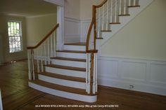 View Our Gallery Of Custom Wood Stairs And Staircases By Stillwell  Stairbuilders.