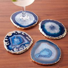 Agate Coasters (Set of 4) | west elm  Gold and blue