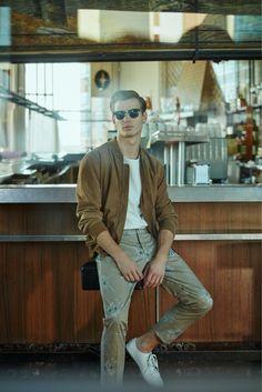 Model Ben Allen stars in a new spring 2016 look book from Mango
