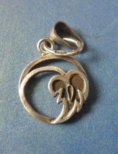 Vintage Retro USSR Soviet Jewelry Silver 875 Pendant Leaf marked #Pendant