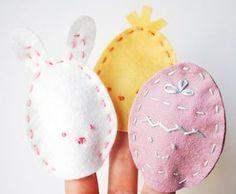 Uova di Pasqua bambini feltro