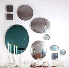 gray blue vintage mirrors / sfgirlbybay