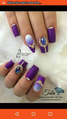 ideas for fails design diy ombre Em Nails, Fancy Nails, Bling Nails, Love Nails, Swag Nails, Hair And Nails, Diy Nail Designs, Diy Design, Diy Ombre