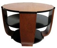 French Art Deco Burlwood Coffee or Center Table