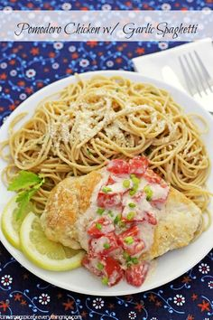 Pomodoro Chicken with Garlic Spaghetti