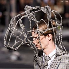 If It's Hip, It's Here (Archives): Hats Off To Thom Browne and Stephen Jones For Some Seriously Strange Headwear.