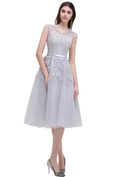 0753d56a492 online shopping for Babyonlinedress Babyonline Women s Sleeveless Tulle  Appliques Short Evening Cocktail Gowns from top store.