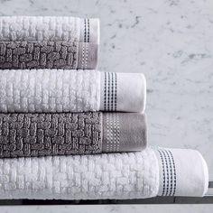 Bath Towel Sets, Bath Towels, Bathroom Towel Decor, Bathroom Ideas, Chevrons, Fingertip Towels, Face Towel, Terry Towel, Luxury Towels