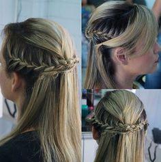 Penteados perfeitos para cabelos médios soltos em 10 fotos perfeitas e passo-a-passo simples de ser feito! http://salaovirtual.org/penteado-cabelo-medio-solto/ #penteadossimples #cabelosmediossoltos #salaovirtual