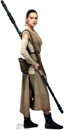 Rey - Star Wars VII: The Force Awakens Lifesize Standup Cardboard Cutouts at AllPosters.com