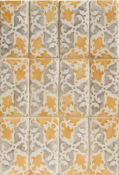 Walker Zanger - Alexandra Decorative Field Duquesa handpainted ceramic tile