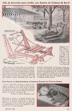 SILLA DE EXTENSION PARA JARDIN CON ASIENTO DE CIMBRAS DE BARRIL JULIO 1948 001B copia