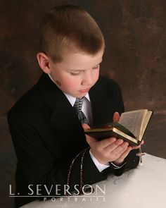 Boy's First Communion photo idea for H?
